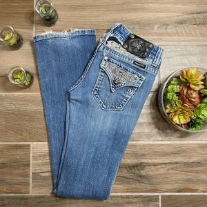 Miss me signature Boot womens embelished jeans